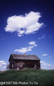 Weathered farm building